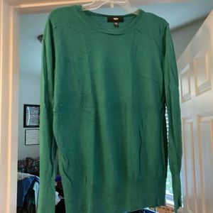 Mossimo Green Scoop Neck Sweater